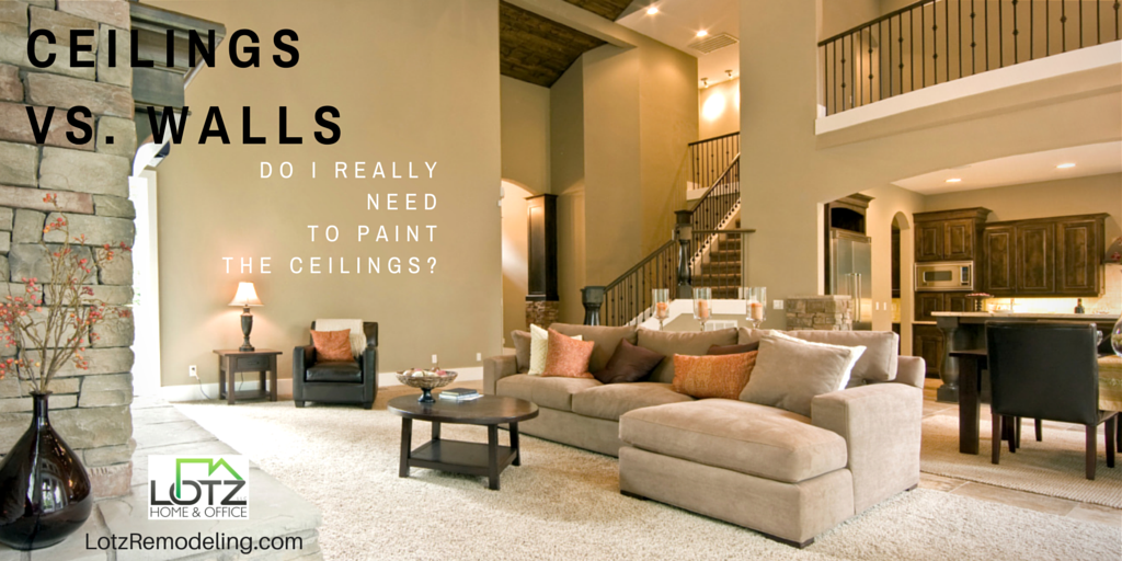 Interior Wall Painting: Should You Paint Both Your Ceilings Too?