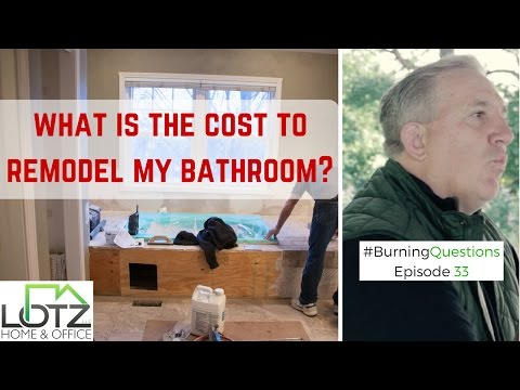 How much does it cost to remodel my bathroom video - How much to do a bathroom remodel ...