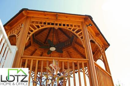 deck staining of gazebo