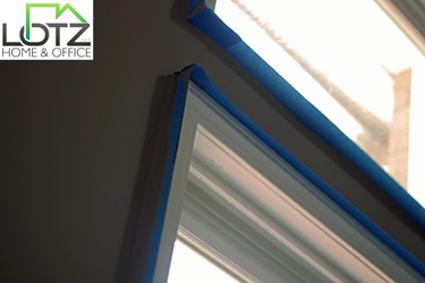 Painting window sills interior